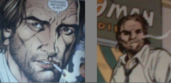 If not for the cigarrette, would you be able to tell these are the same character?